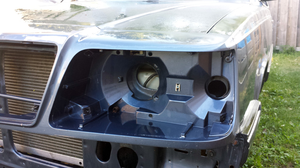 Headlight cavity, driver side. All cleaned out!