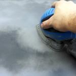 sanding the hood